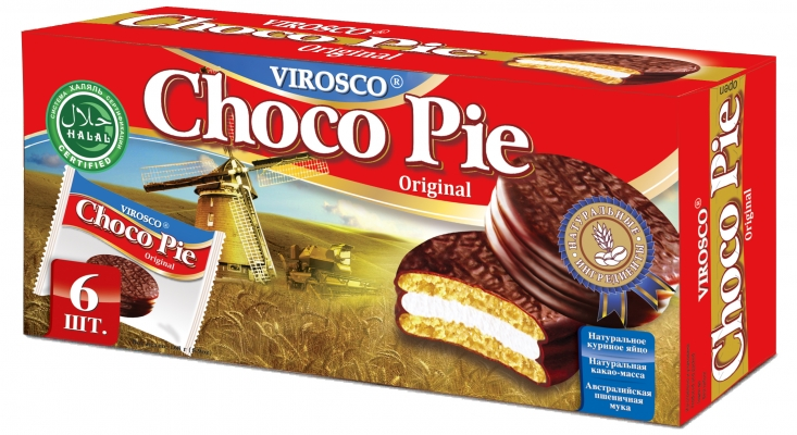 Печенье Choco Pie VIROSCO Original 168 гр.