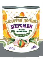 Персики в легком сиропе