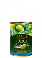 Оливки Manzanilla зеленые фаршированные анчоусом